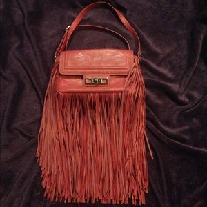 Pink purse bag with tassels